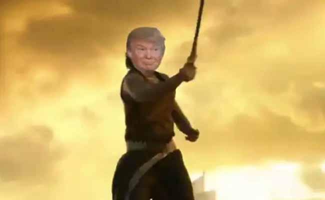 Donald-Trump As bahubali
