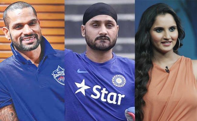 COVID-19 Outbreak: Indian Sportsmen Shikhar Dhawan Harbhajan Singh Sania Mirza