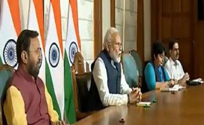 PM Modi having Video-conference