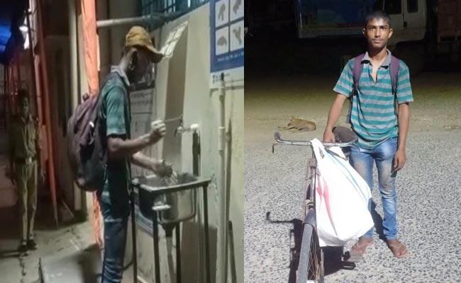 Odisha-Youth-Cycles from Mahashtra amid coronavirus lockdown