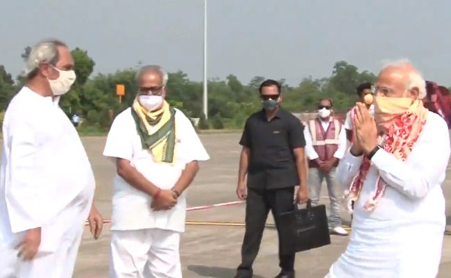 PM Modi takes aerial survey of cyclone amphan affected districts in Odisha