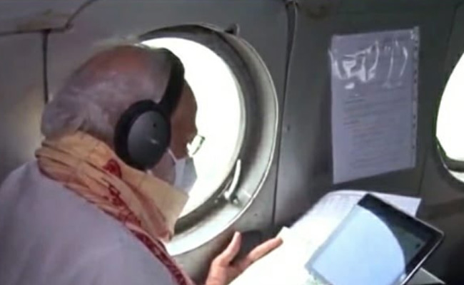 PM Modi conducts aerial survey of cyclone-hit West Benga
