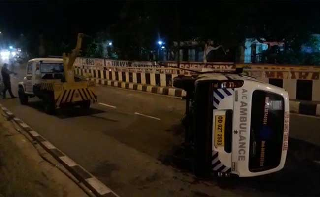 Close Shave For COVID-19 Patients As Ambulance Overturns In Odisha