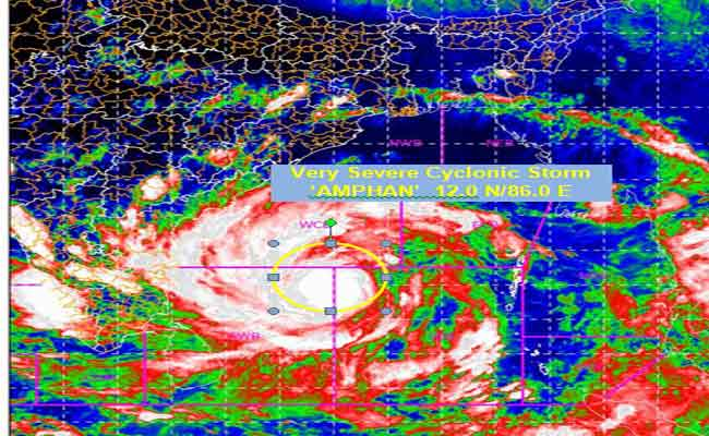 Cyclone Amphan Intensifies into very severe cyclonic storm