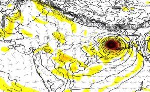 cyclone Amphan Landfall