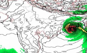 cyclone Amphan landfall WB