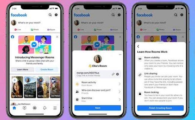 Facebook rolls out Messenger Rooms with 50-person video call globally
