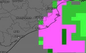 Rainfall Cyclone Amphan