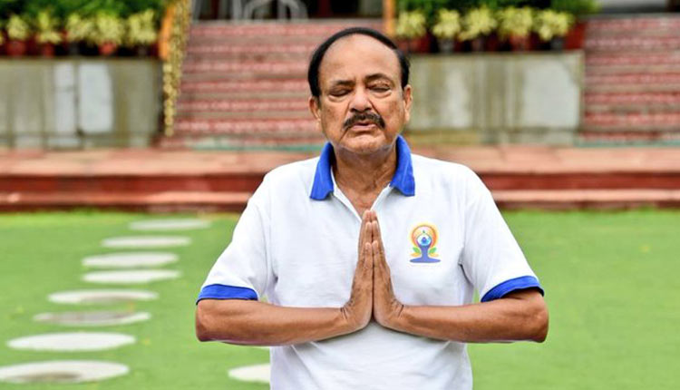International Yoga Day 2020: VP Naidu Urged To Include Yoga As Part Of Online Programmes