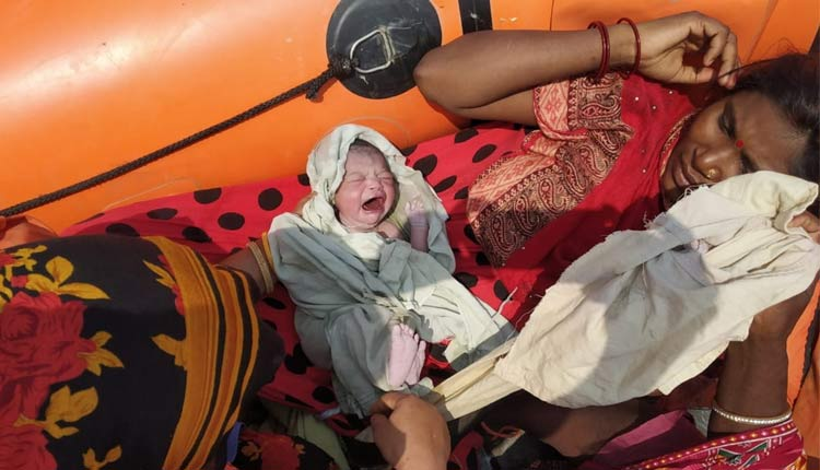 Baby Girl Born on NDRF Rescue Boat