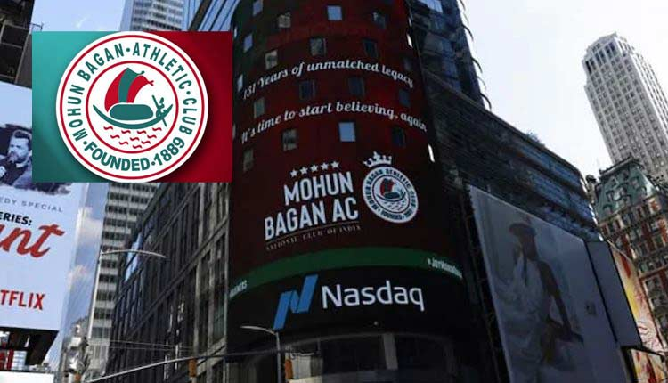Mohun Bagan On New York's Times Square Billboard On Club's Foundation Day
