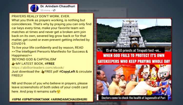 IIPM Think Tank Director's Social Media Post On Hindu Deities Sparks Row