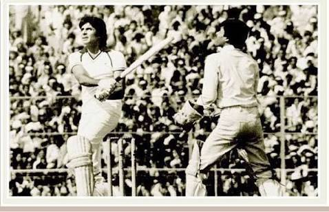 Amitabh bachchan after hitting the ball in a benefit match