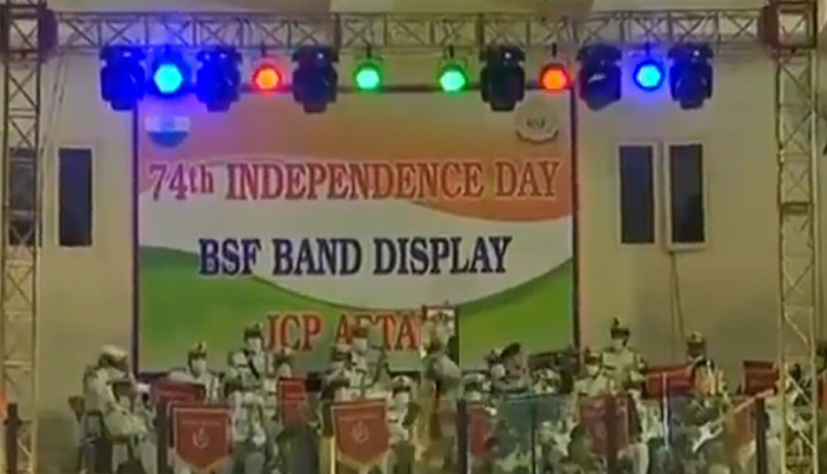 Independence Day: BSF Performs Musical Programme At Attari Border