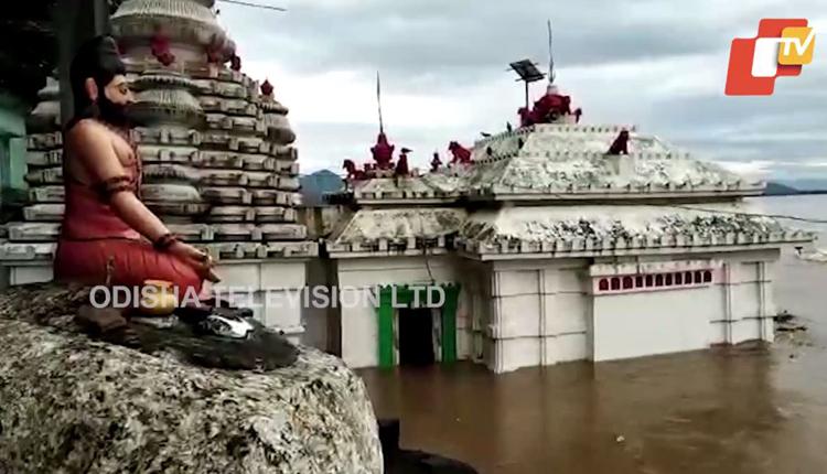 How Flood Inundates Bhattarika Temple In Odisha