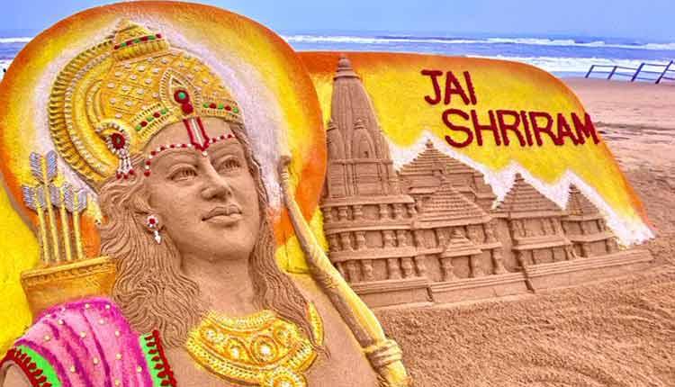 Sand Artist Sudarsan Pattnaik Creates Replica Of Ram Temple At Puri Beach