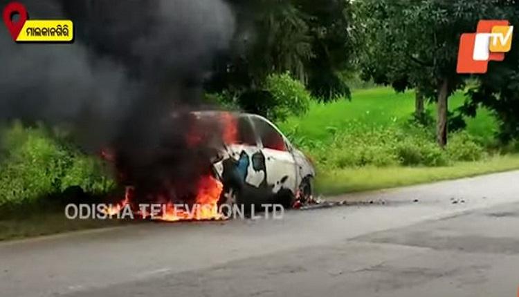 Ganja-laden Catches fire