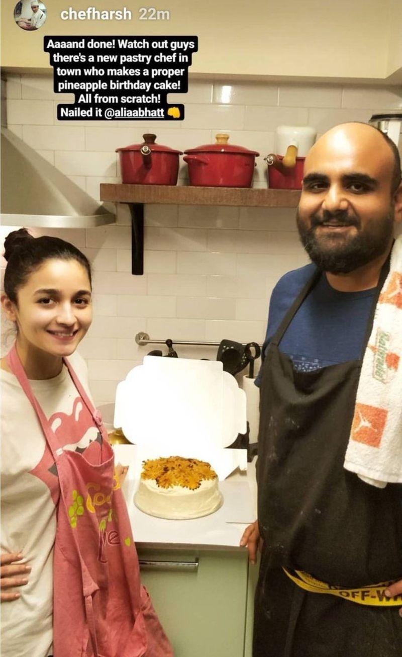 Alia Bhatt Bakes Cake For Ranbir