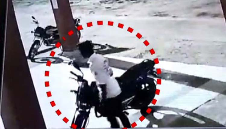 Watch: Miscreant Runs Off With Bike From Hospital In Odisha