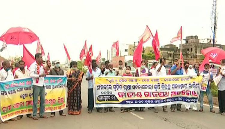 Farm Bills: Farmers Stage Protest Across Odisha