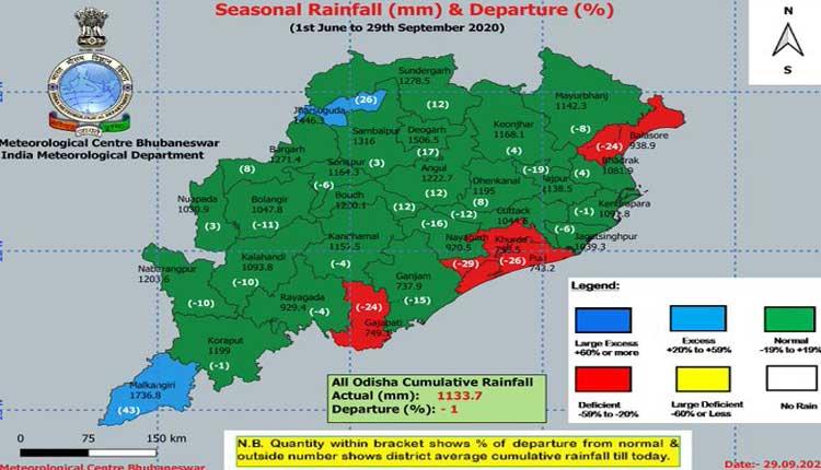 Set For Monsoon Withdrawal, 4 Odisha Districts Still Under Rainfall Crunch