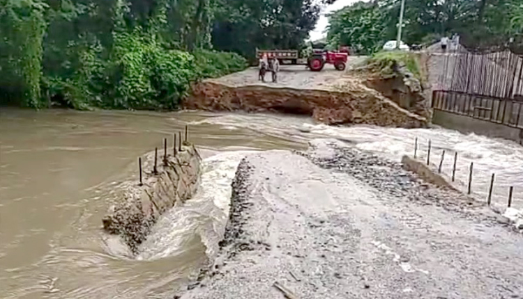 Vehicular Movement Disrupted After Temporary Culvert Washed Away In Ganjam