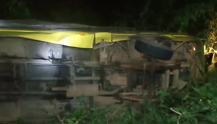 Bus Carrying OJEE Aspirants Overturns In Odisha; 25 Injured