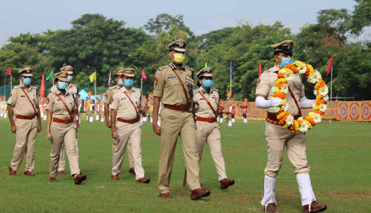 61st Police Commemoration Day observed by Commissionerate Police at Reserve Police Line Ground in Bhubaneswar
