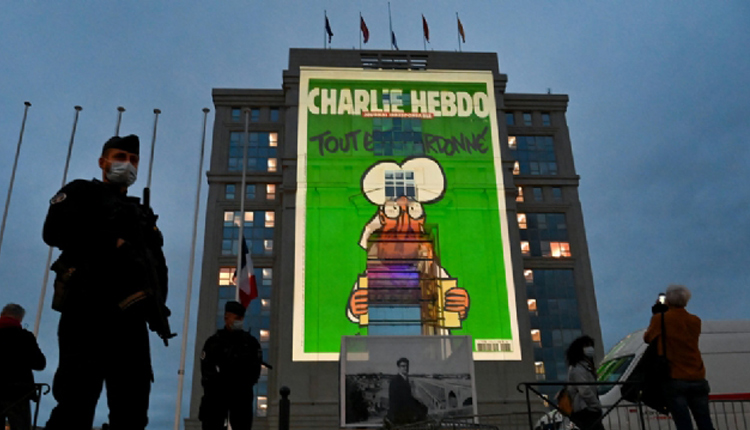 Prophet Mohammed's Cartoon Images Projected On French Govt Building