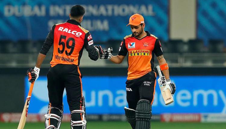 IPL 2020: Half Centuries Of Manish, Vijay Help SRH Win Over RR By 8 Wickets