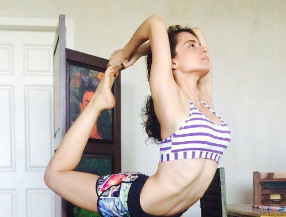 Kangana Ranaut Doing Stretching