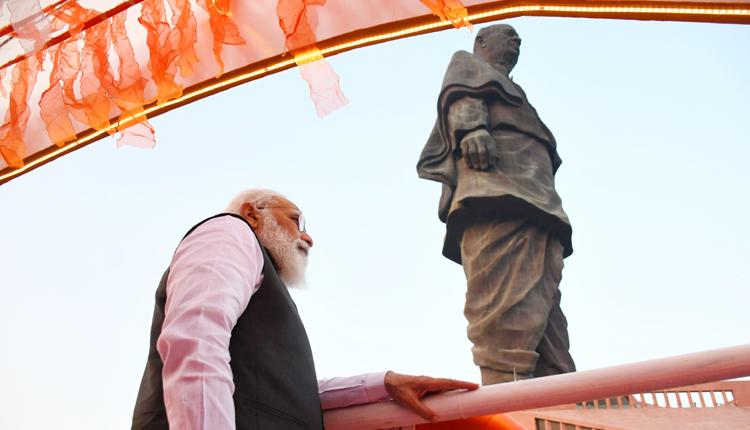 PM Narendra Modi Pays Tributes To Sardar Patel At Statue Of Unity