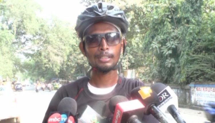 Cycling For Change: WB Youth Aiming To Cover 5 States In Bicycle Reaches Odisha