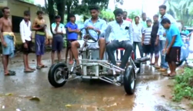 Odisha Techie Designs 4-Wheeler Vehicle Using Old Bike Engine, Scrap!