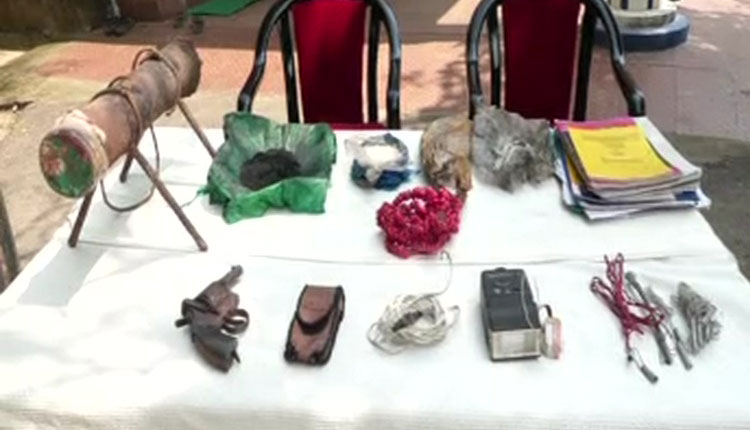 revolver, claymore mine recovered from Maoist dump