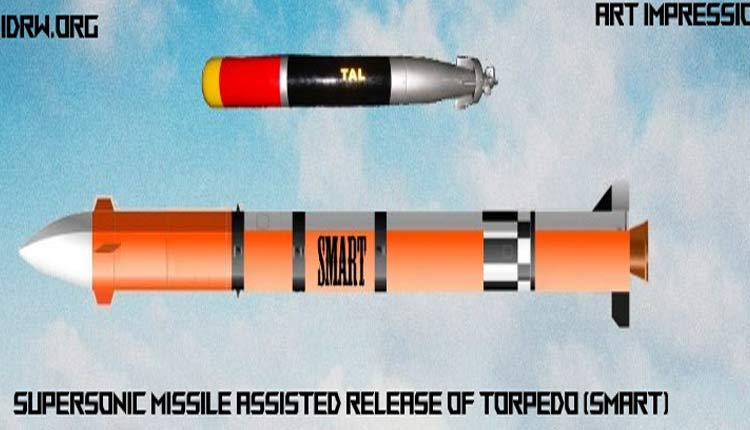 Supersonic Missile Assisted Release of Torpedo 'SMART' Successfully Flight Tested Off Odisha Coast