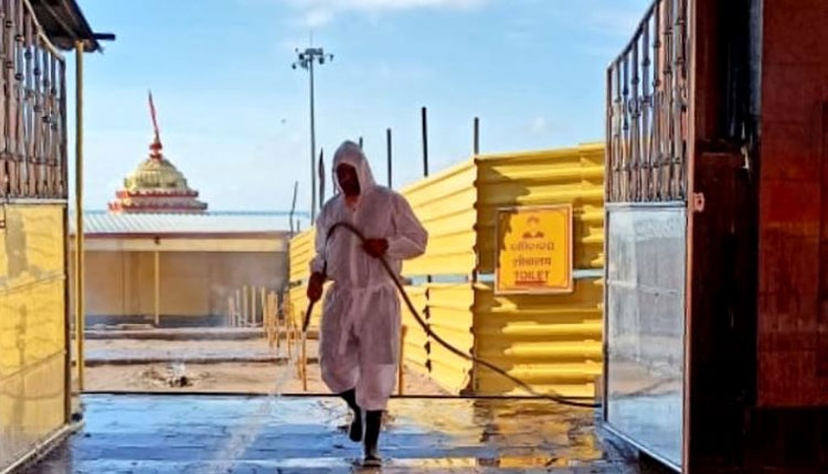 Sanitisation Drive Begins At Swargadwara After Puri Administration Lifts Restrictions