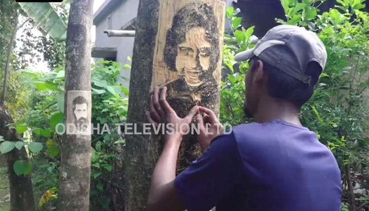 Watch: Odisha Man Carves Out Faces Of Famous Personalities On Trees To Prevent Deforestation