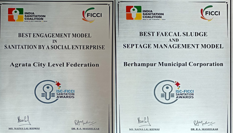 Berhampur Municipal Corporation Honoured At ISC-FICCI Sanitation Awards 2020