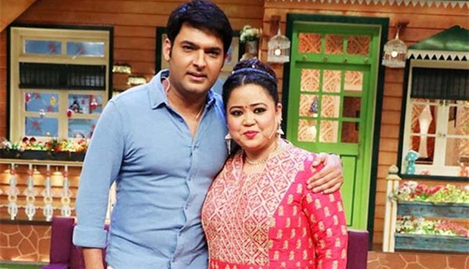 Bharti Singh and Kapil Sharma in The Kapil Sharma Show