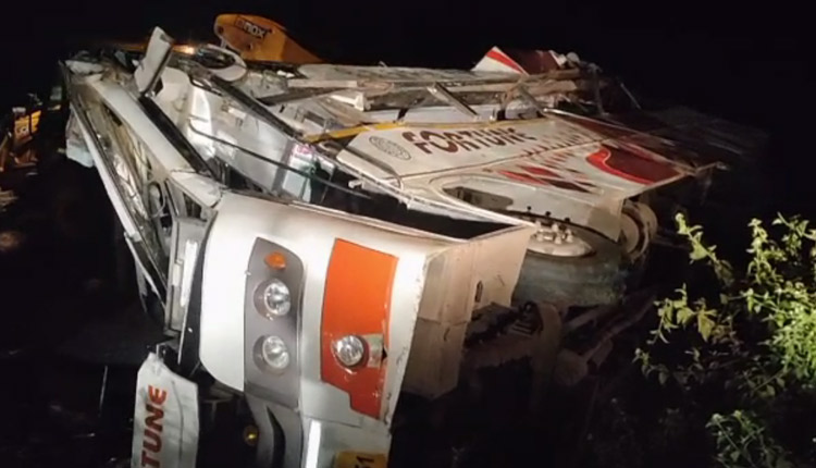 Two Dead As Bhubaneswar-Bound Bus Overturns Near Hajaridanga In Rayagada