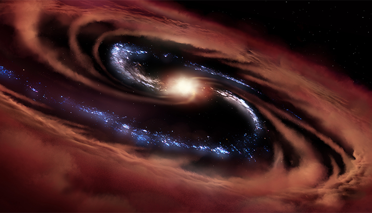 Researchers Discover Galaxy Surviving A Black Hole's 'Hunger'