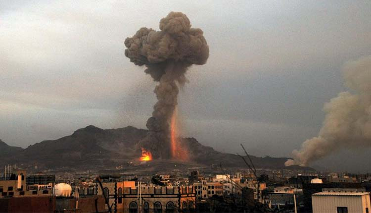 Saudi-Led Airstrikes Hit Houthi Military Camps In Yemen's Capital