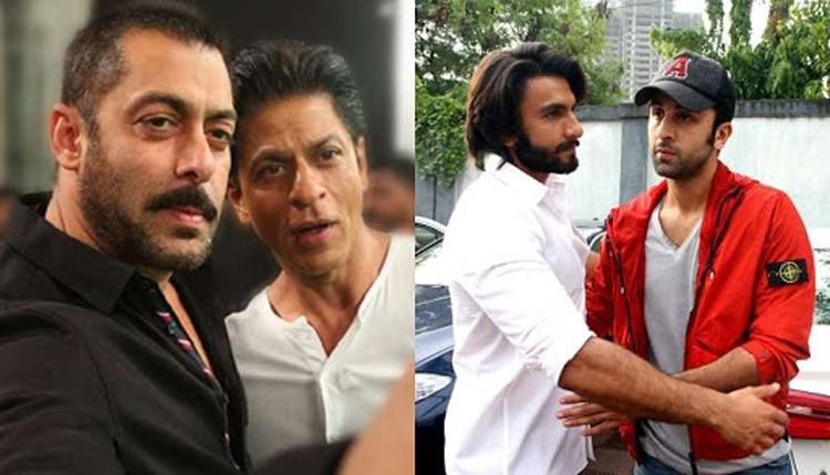 Shah Rukh, Salman, Ranveer & Ranbir - The Big Four Back At Work