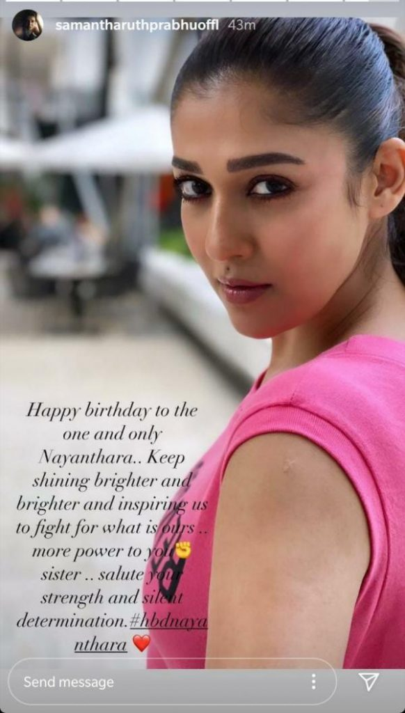 Samantha Akkineni's Shares A Touching Birthday Wish For Nayanthara, See Here