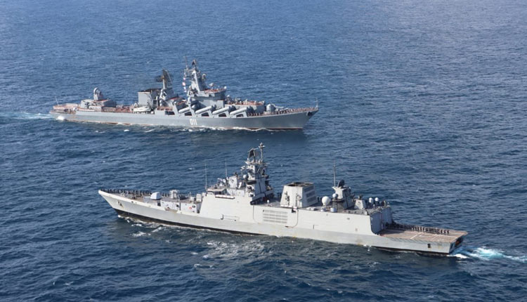India Kick Starts Naval Drill With Russia In Eastern Indian Ocean