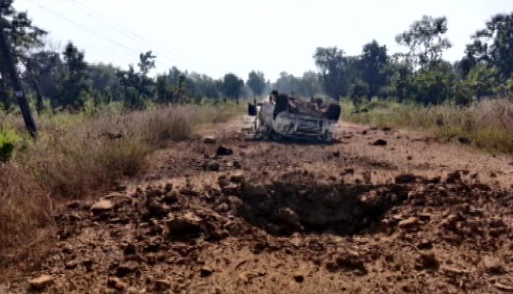 Landmine blast