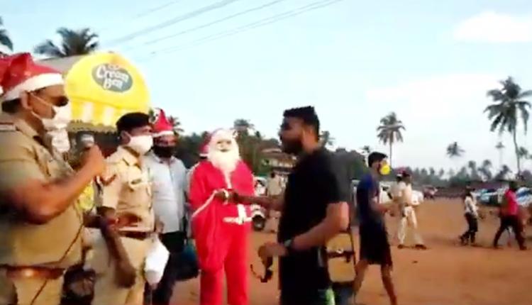 WATCH: Cops Dressed As Santa Create Covid Awareness In Goa Village