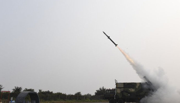 India Successfully Test-Fires New-Generation Akash Missile Off Odisha Coast