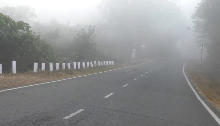 Fog envelops several parts of Odisha today morning (Pic- OTV)